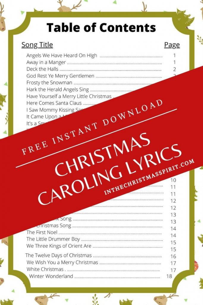 christmas caroling lyrics pdf