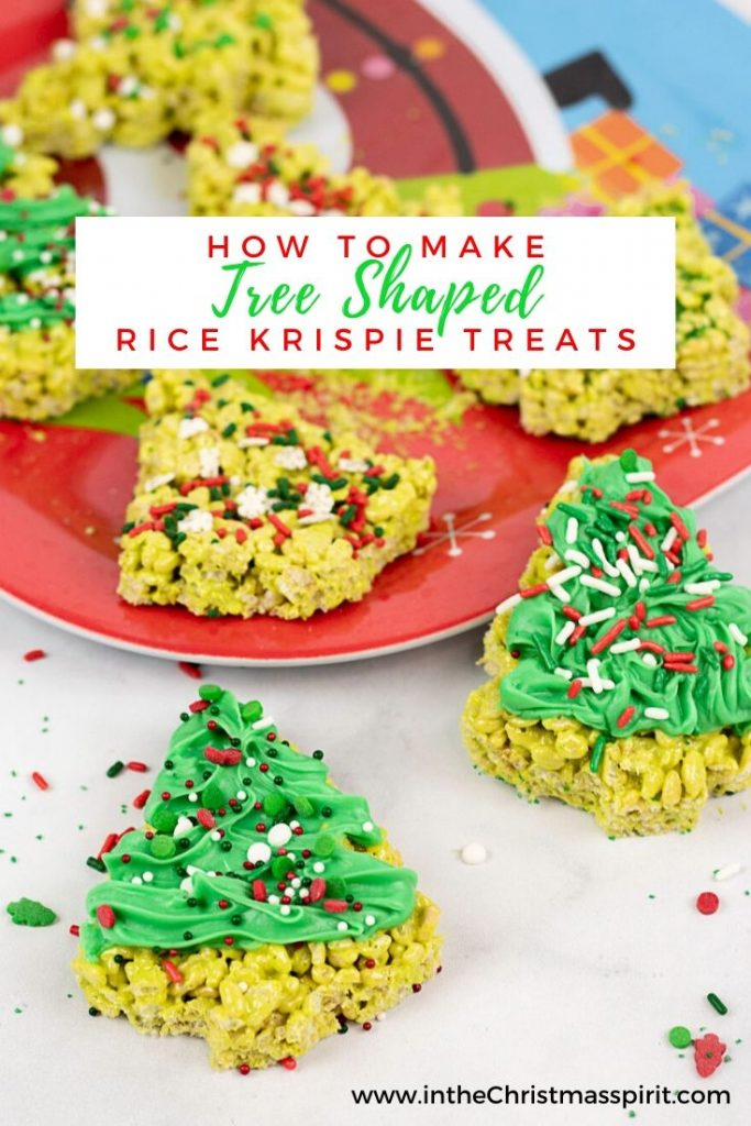christmas rice krispie treats pinterest