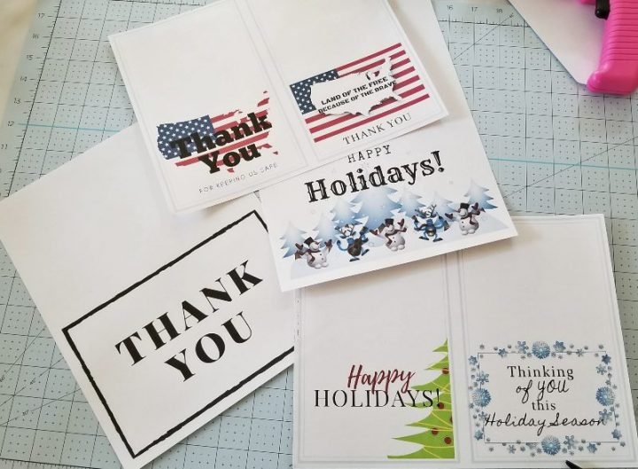 making cards for soldiers