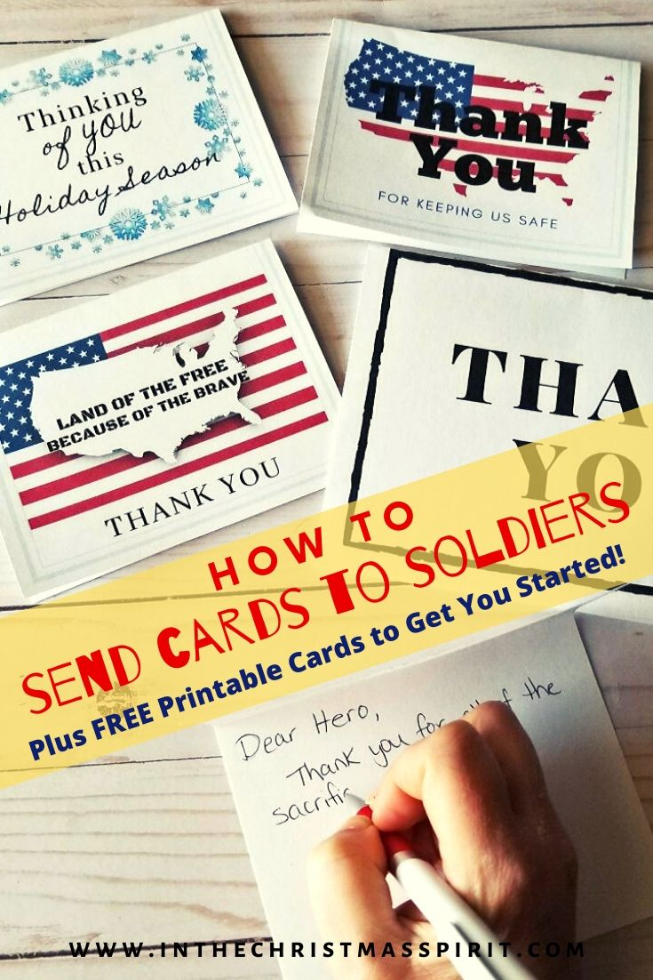 Cards For Soldiers In The Christmas Spirit