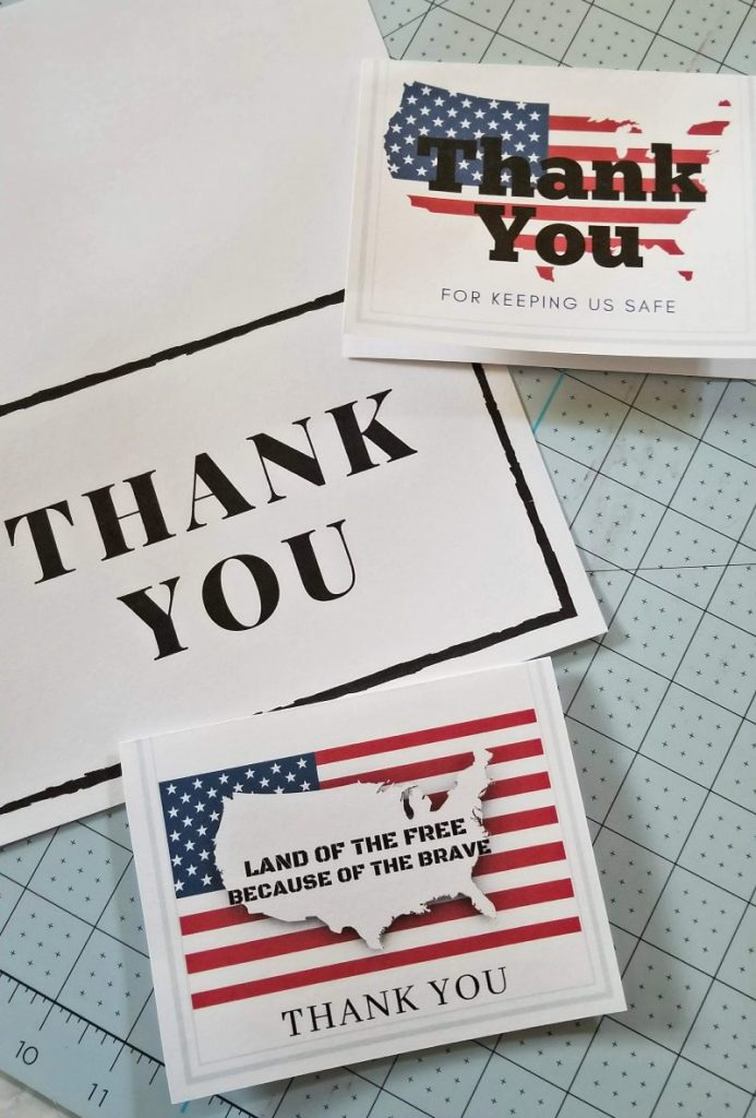 thank you cards for troops