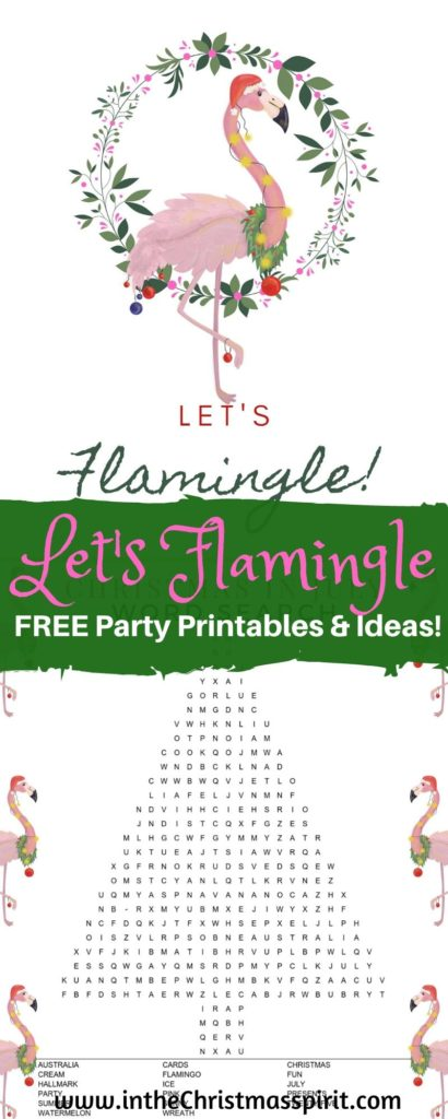 free flamingo party printables